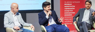 """Myślenie projektowe a tworzenie nowych usług - wywiady z panelistami II Seminarium WBZ """"Młody biznes w oparciu o design. Start it up!"""""""