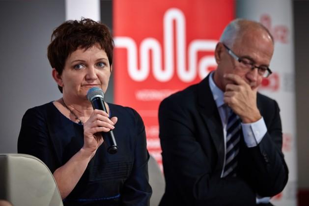 Iwona Wendel, wiceminister infrastruktury i rozwoju oraz Lech Pilawski, Dyrektor Generalny Konfederacji Lewiatan