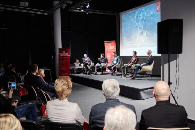 od lewej prof. Marek Adamczewski, Kamil Adamczyk, Jakub Hermański, Bartosz Ambrożkiewicz, Ryszard Poniedziałek