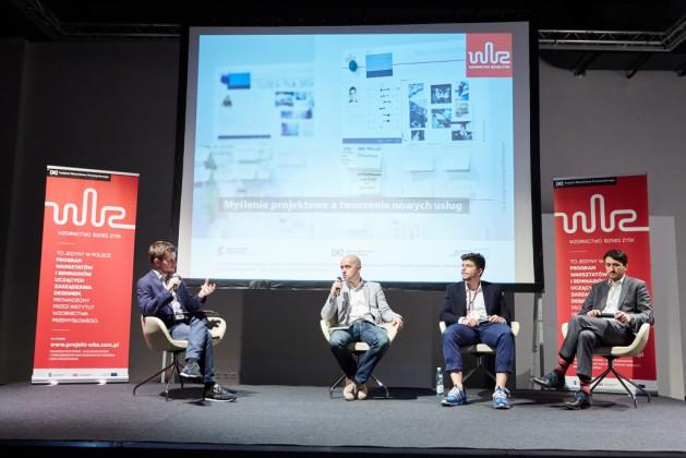 Od lewej Krzysztof Bogomaz (PLEO design), Adam Fudala (Corton Sp. z o.o.), Bart Zimny (VORM lab., Clime Inc.),  Jakub Ratajczak (easyPack Sp. z o.o.)