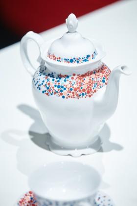 Kolekcja porcelany Blue Dots, proj. Piotr Stolarski, prod. Porcelana Krzysztof