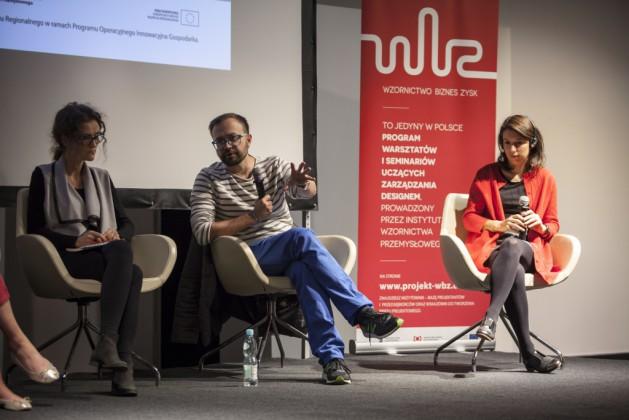 Panel 3, od lewej: Dorota Jaśkiewicz, dr Jakub Szczęsny, Delia Dumitrescu