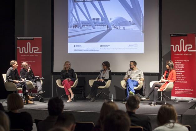 Panel 3, od lewej: Mikołaj Wierszyłłowski, prof. Marek Adamczewski, Katarzyna Króla-Wyszyńska, Dorota Jaśkiewicz, dr Jakub Szczęsny, Delia Dumitrescu