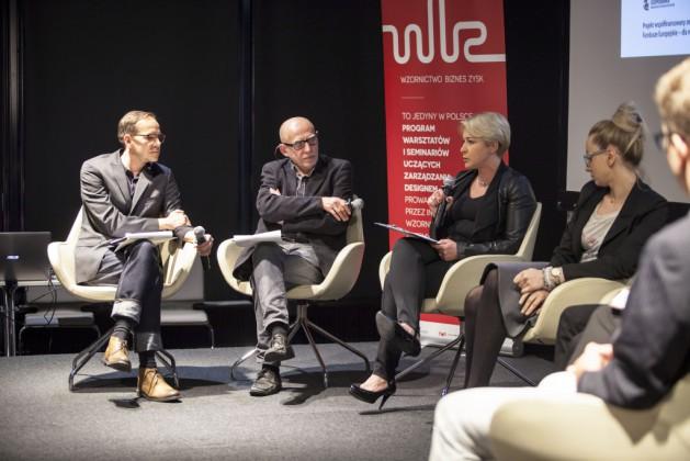 Panel 2, od lewej Mikołaj Wierszyłłowski, Lidia Kowalska-Getler, Katarzyna Bukowiecka