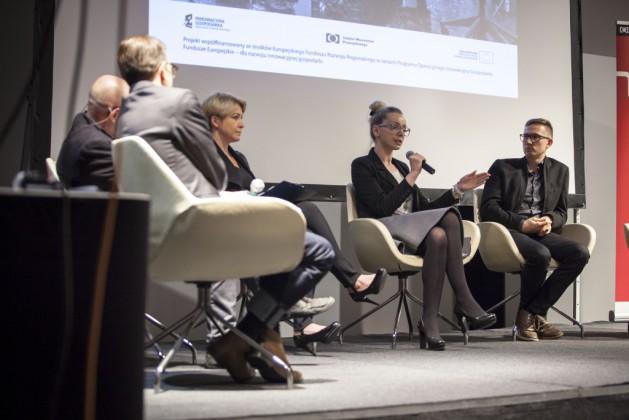 Panel 2, od lewej Mikołaj Wierszyłłowski, Lidia Kowalska-Getler, Katarzyna Bukowiecka, Michał Gdak
