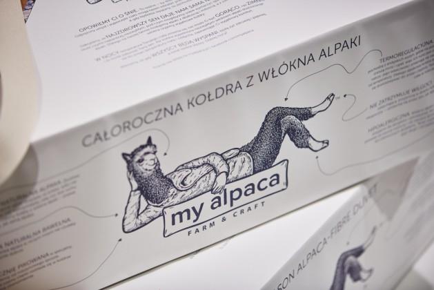 Hipoalergiczna kołdra z włókien alpaki My alpaca, proj. BEZA Projekt - Anna Łoskiewicz, Zofia Strumiłło-Sukiennik, prod. my alpaca