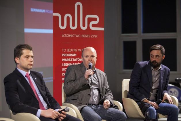 od lewej: Stanisław Dojs (Volvo Car Poland), Grzegorz Bargielski (GEOBIKE), Andrzej Żuczkowski (ENGINEO)