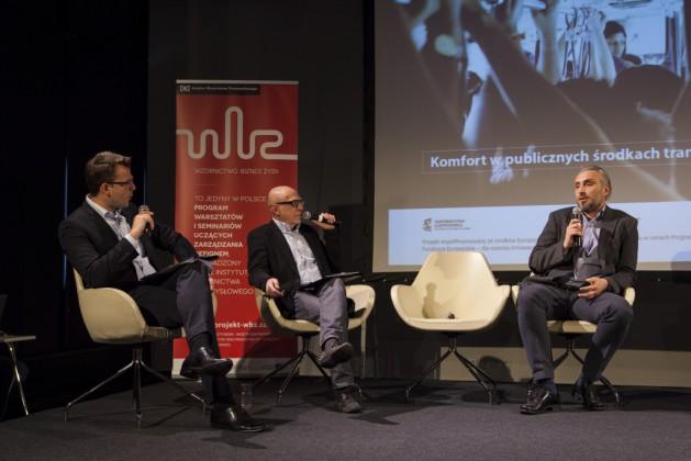 od lewej: Piotr Chęciński, Marek Adamczewski, Bartosz Piotrowski (PESA)