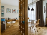 Projekt wnętrza apartamentu w Warszawie.