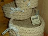 Koszyki ze sznurka
