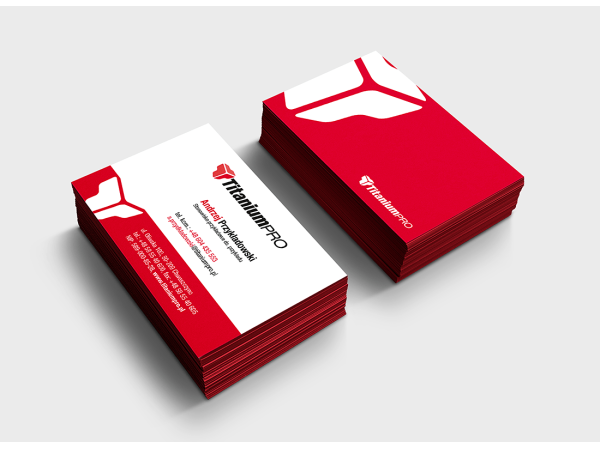 Projekt identyfikacji wizualnej marki TitaniumPRO