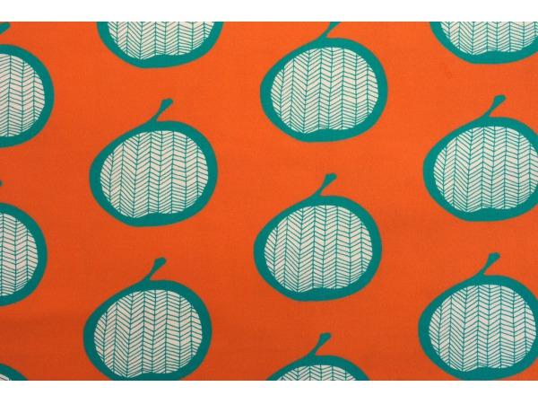 tkanina Jabłka (pomarańcz)