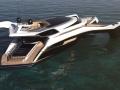 Trimaran yacht