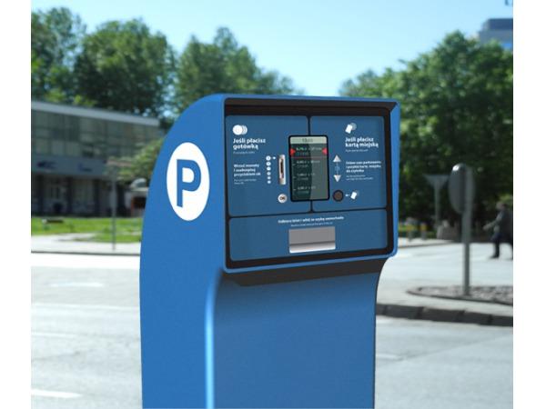 interfejs parkometru miejskiego