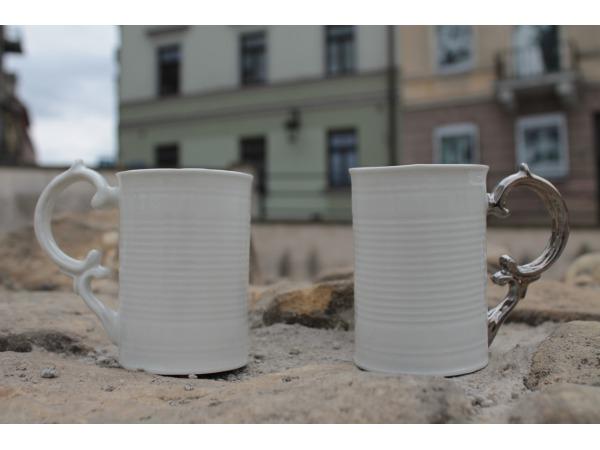 Kubek Porcelanowy - Puszka z Uchem