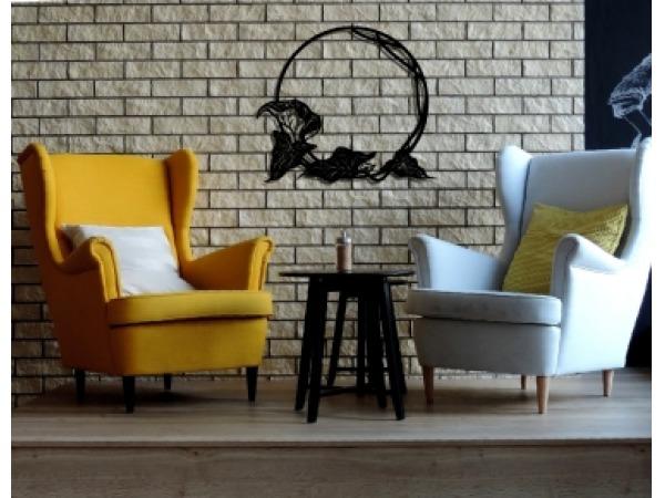 dekor ścienny dekoracja z metalu malowanego