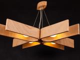 Żyrandol z naturalnym charakterem drewna 85x85cm