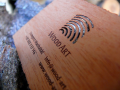 Drewniane wizytówki o grubości 0,45mm