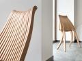 Implematacja krzesła Lotos projektu Romualda Ferensa