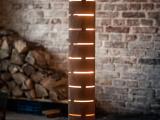 Lampa podłogowa z naturalną fakturą drewna 2